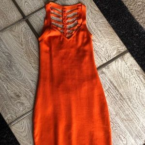 BEBE Bodycon Orange Dress
